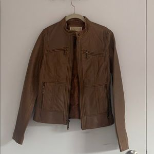 Size small Michael Kors leather jacket